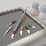Instrumentos para esculpir porcelana